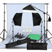 Pantalla verde fondo no tejido soporte Kit 20 vatios LED Luz de pelo Boom soporte estudio foto Video iluminación Kit