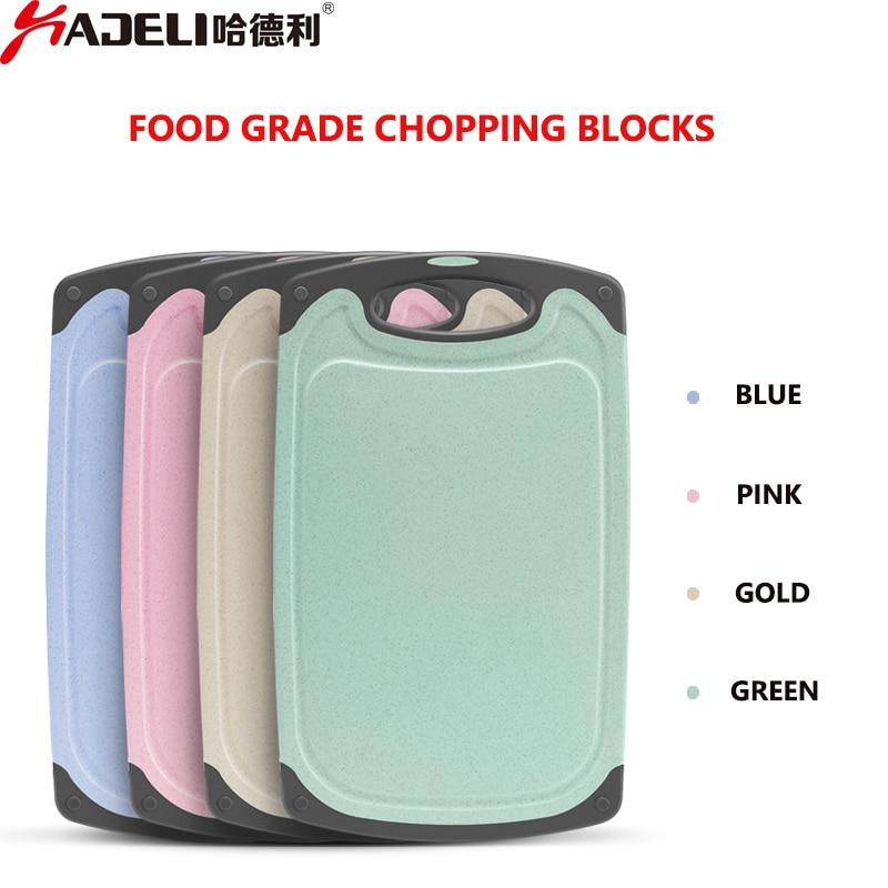HADELI Antibacterial Chopping Board Multifunction PP Plastic Heat Resistant chopping Blocks Fruit Cutting Boards Kitchen Tools