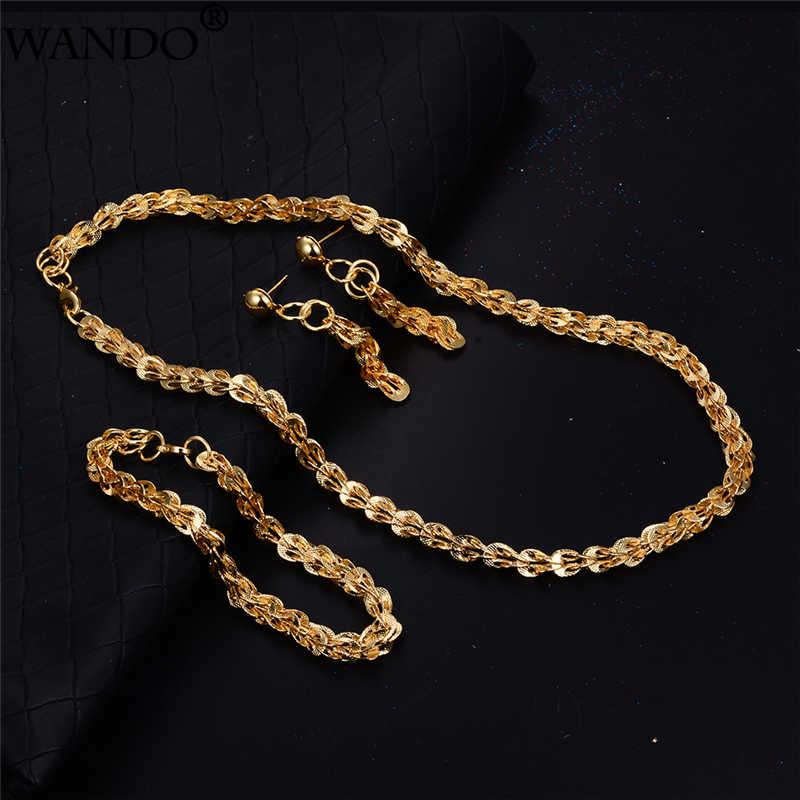 Wando bijoux de mariage Phoenix queue collier ensemble de bijoux collier Bracelet et boucles d'oreilles pour les femmes africain arabe France cadeau de fête
