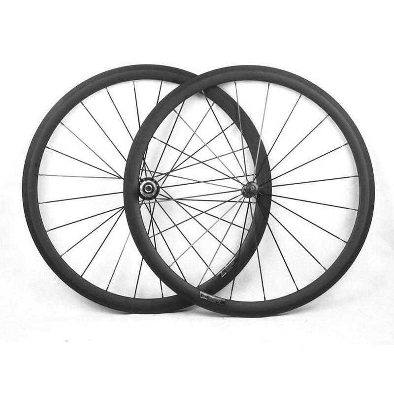 Rodado Da Bicicleta do carbono Campy Corpo 700C 23/25mm de Largura 38mm 50mm 60mm 88mm R36 hub Bicicleta de Estrada de Basalto Superfície de Freio Rodas De Carbono