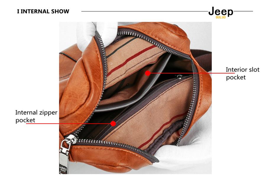JEEP BULUO Luxury Brand Men Messenger Bags Crossbody Business Casual Handbag Male Spliter Leather Shoulder Bag Large Capacity 24