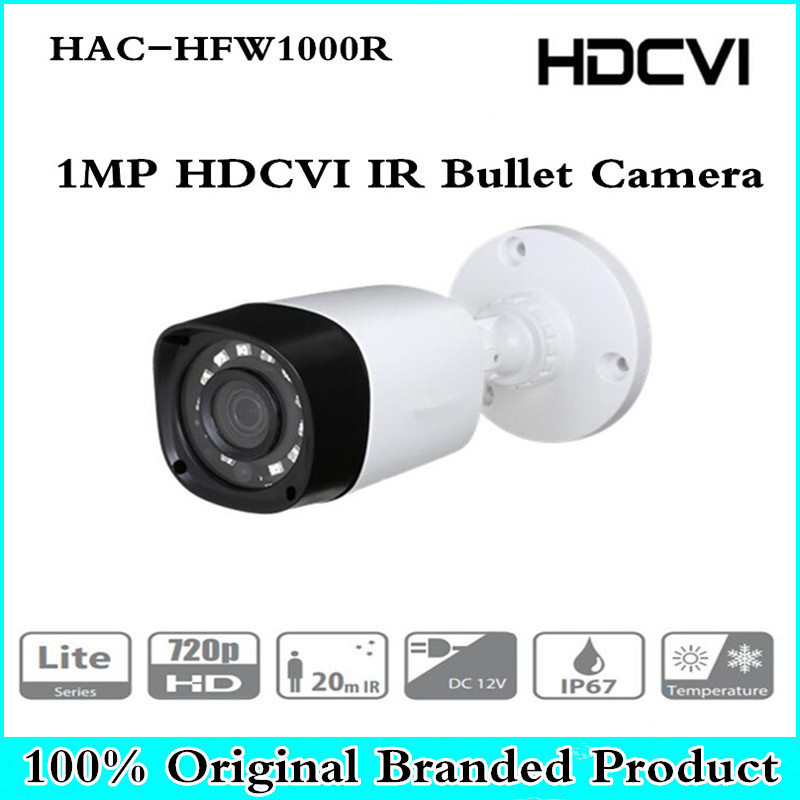 Original DH HAC-HFW1000R 1MP HDCVI IR Bullet Camera Smart IR IP67 720P HD CCTV Lite Series | DH-HAC-HFW1000R dahua outdoor indoor hdcvi camera dh hac hdw1100e 1mp hd network ir security cctv dome camera ir distance 40m hac hdw1100e ip67