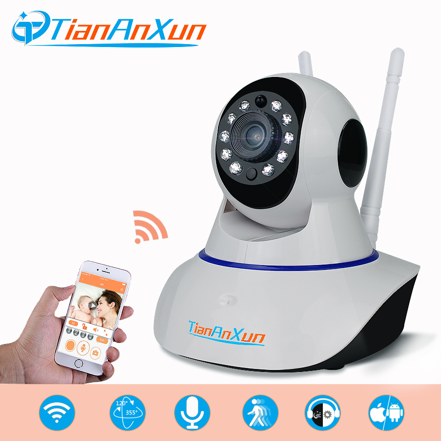 TIANANXUN Wireless IP Camera Home Security wifi Network HD Surveillance Smart Camera Audio Video Night Vision CCTV baby monitor new wireless remote control baby monitor with night vision intercom voice wifi network ip camera electronic for smart phone