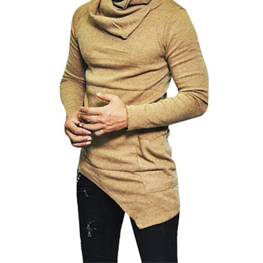 2019 Autumn Winter Turtleneck Sweater Men Casual Knitted Sweaters Male Long Sleeve Slim Fit Pullover Masculina Tops