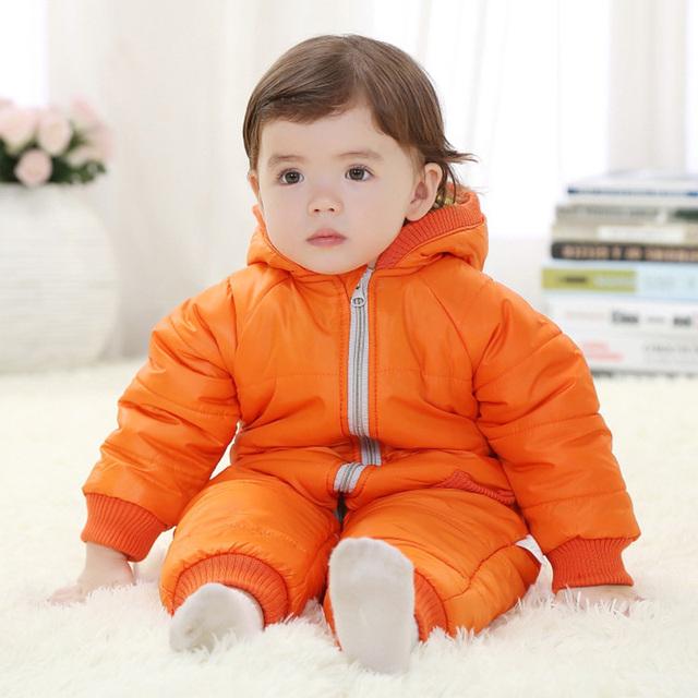 Meninos Traje de alta Qualidade Macacão de Bebê Inverno Algodão Grosso Meninas Quentes Roupas Miúdo Macacão Casacos Crianças Desgaste Do Bebê