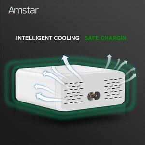 Image 3 - Amstar 6 porte 40W caricatore USB ricarica rapida 3.0 Dock Station di ricarica USB veloce con Display a LED per iPhone XS Samsung S9 Xiaomi