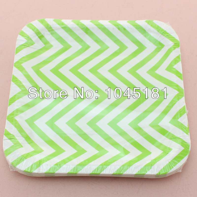 ipalmay Cheap 7\  Square Paper Plates Crafts Picnic BBQ Party Supplies Sky Blue Chevron Paper Plates-in Disposable Party Tableware from Home \u0026 Garden on ...  sc 1 st  AliExpress.com & ipalmay Cheap 7\