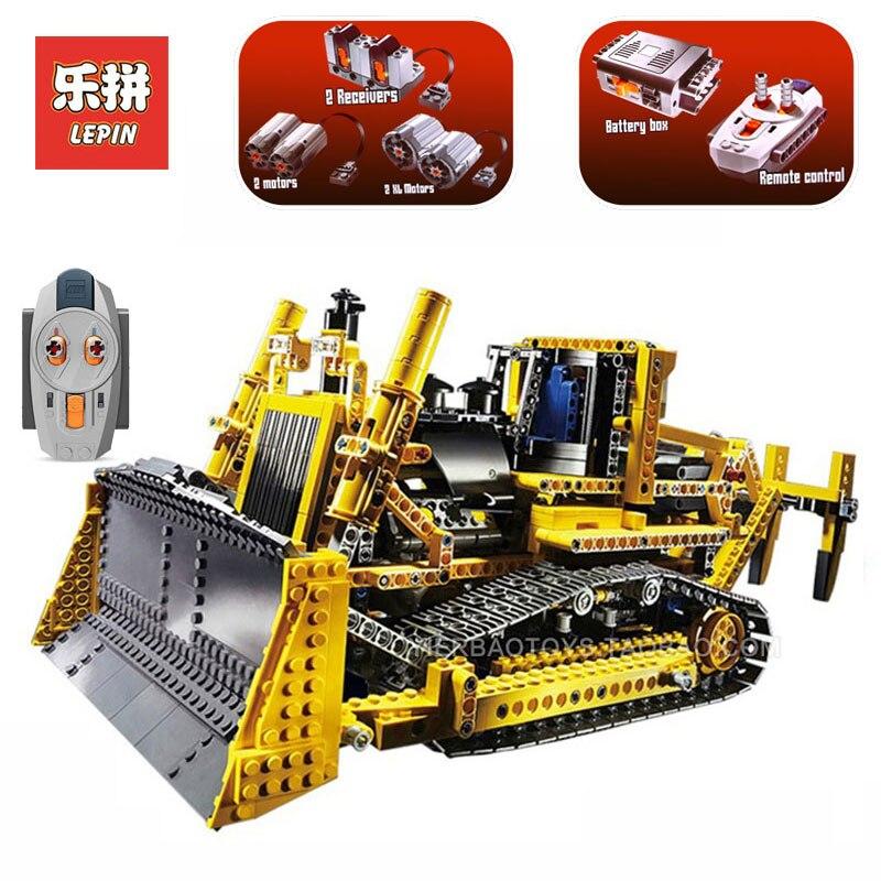 Lepin 20008 Technic series 1384Pcs bulldozer Model Building kits Blocks Bricks LegoINGlys 8275 toys for boys Children gifts цена