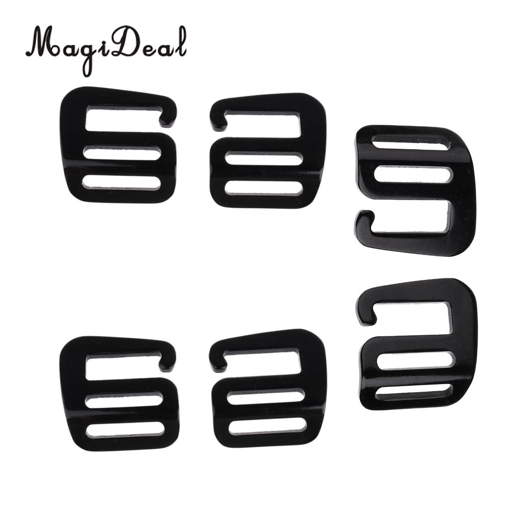 MagiDeal 6 Pcs 1 inch G Hook Outdoor Webbing Buckle for Backpack Strap 25mm Black acecamp 9034 tactical outdoor nylon utility backpack strap black 2 pcs 65cm page 5