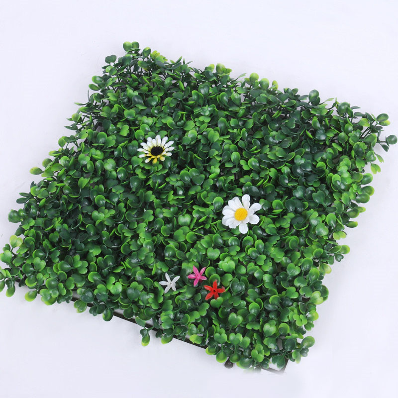 100pcs Artificial Grass Plastic Boxwood Mat Topiary Tree Milan Grass Garden Home Store Wedding Decoration Free Shipping ZA4236