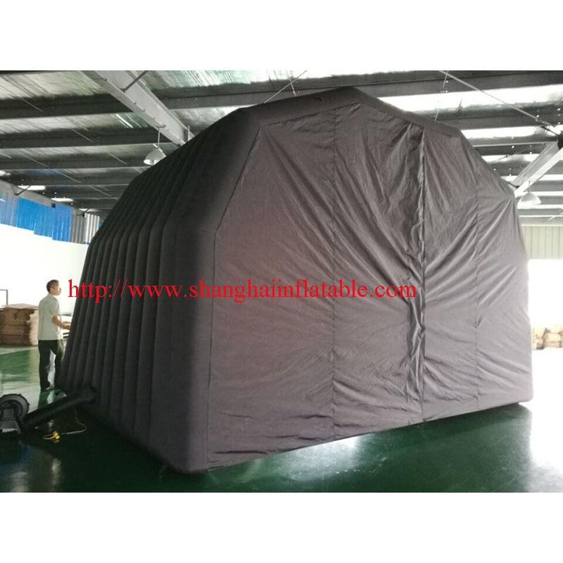 Aangepaste opblaasbare evenement tent/zwart oxford opblaasbare tent te koop - 3