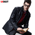 LKBEST 2017 Mens leather Jackets winter Black Leather Jacket For Men Faux Leather Coats Big Size PU Jackets Overcoats (PY13)