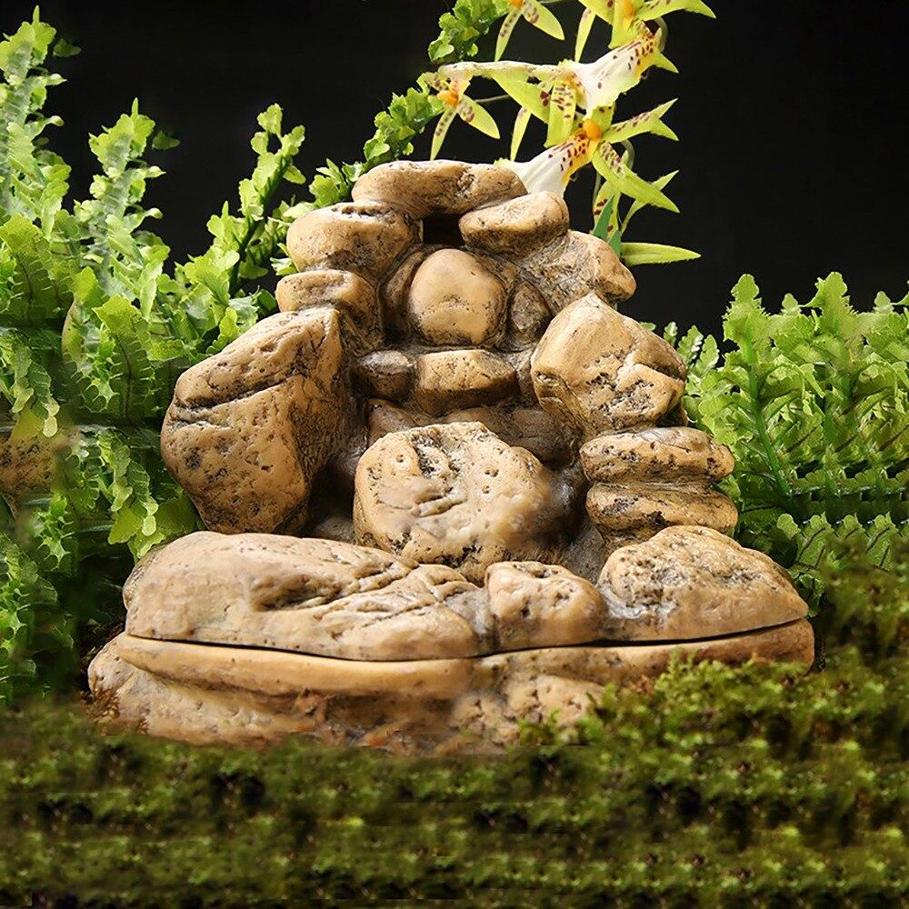 Fontaine Reptile fontaine a boire pour Gecko lézard serpent tortue Reptile grenouille roche Formation Vivarium Terrarium décoration