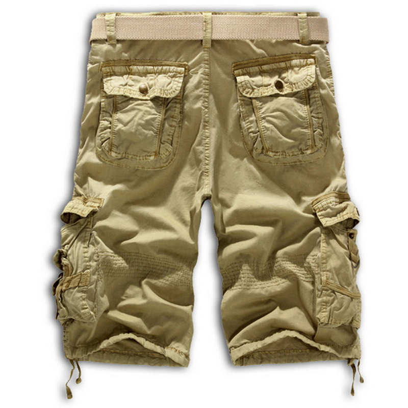 CALOFE Armygreen Shorts Men Cargo Shorts Men Outwear Comfortable Men Sports Shorts Size 29-40 Workout Fitness Hiking Running