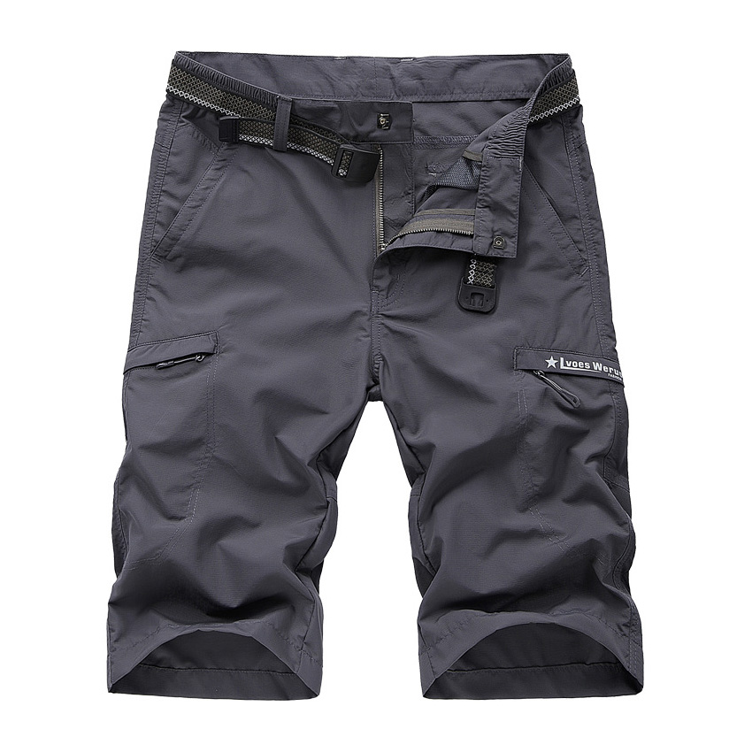 New Fashion Design Men's Cargo Shorts Cotton Knee Length Solid Military Style Short Pants 2017 Summer New Arrival Hot Sale 58wy