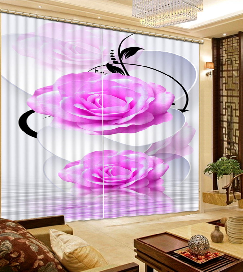 Decorative Door Curtain Photo Printing 3d Rose Curtains Luxury Living Room Home Decoration China