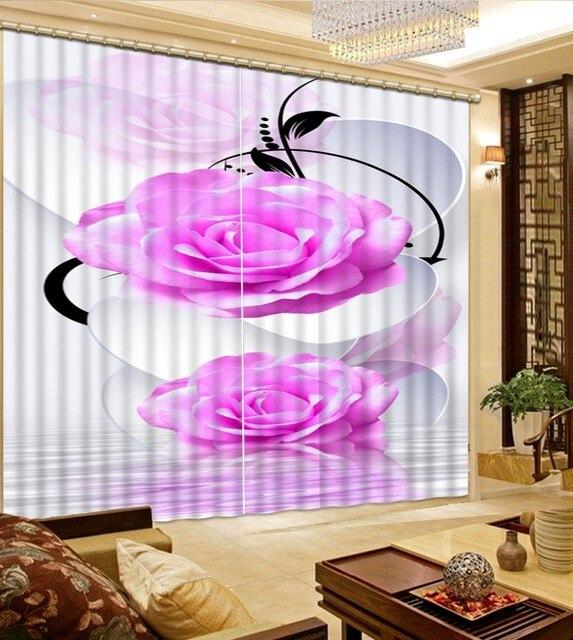 Dekorative Türvorhang Foto Druck 3D Rose Vorhänge Luxus Wohnzimmer  Dekoration