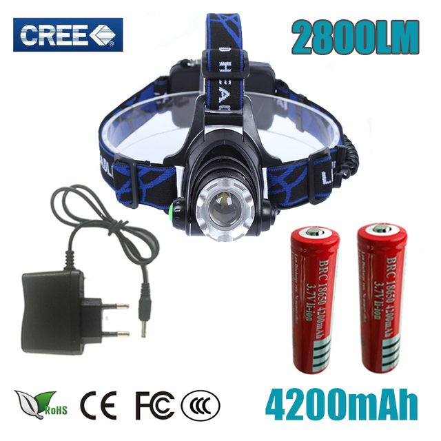 Z30 LED CREE T6 led 90 degree adjustable headlamp Head light 2800lm XM-L T6 18650 chargeable zoomable for 18650 head lamp BIKE