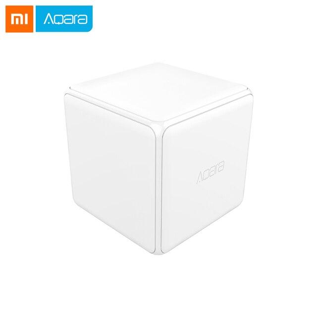 Orijinal Xiaomi aqara sihirli küp denetleyicisi Zigbee sürüm kontrollü altı eylemler akıllı ev cihazı ile çalışmak mijia ev uygulaması