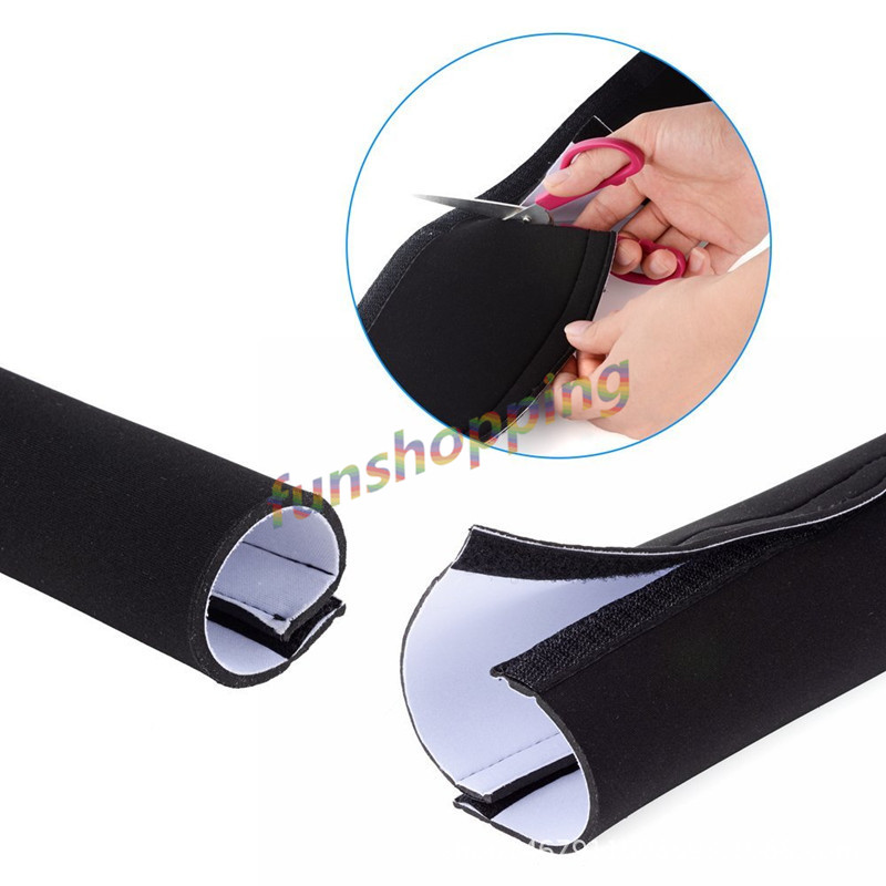 4pcs 2m Cable Management Sleeve, Flexible Neoprene Cable Wrap Wire Cord Hider Cover Organizer System for PC/ TV/ Office/ Phones