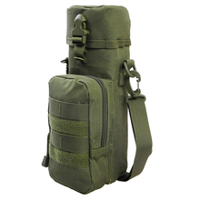 600D Nylon Military MOLLE Tactical Water Bottle Kettle Pouch with Strap Multi-Purpose Bott