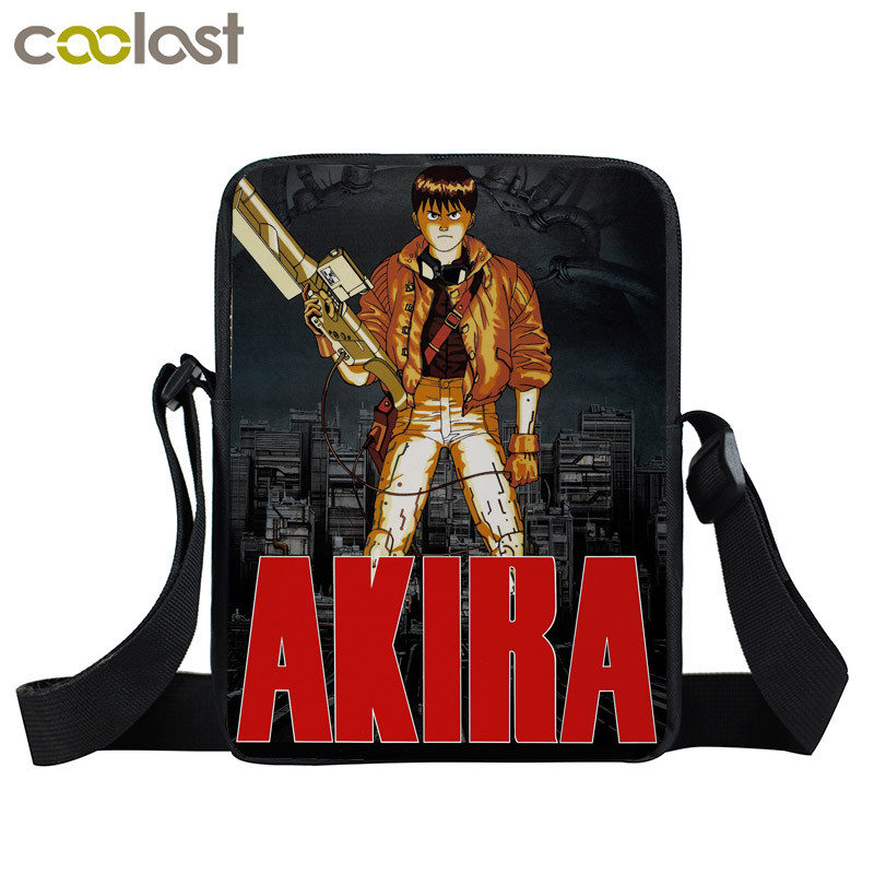 Japanese Anime AKIRA Shotaro Kaneda Messenger Bag Men Women Shoulder Bag  Sci Fi Film The Capsule Motorcycle Kids Book Bags