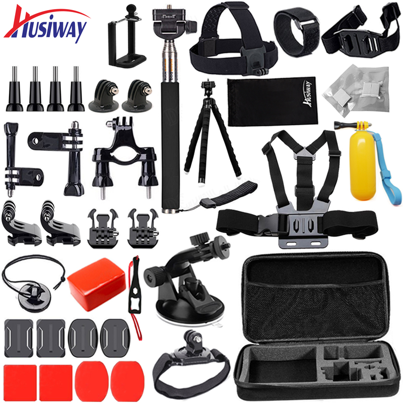 Husiway Accessories Kit for Gopro / Go pro hero 6 5 4 3 Mount for SJ4000 / Xiaomi Yi 4K / Eken Campark Camera 12G ...