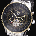 Jaragar Casual Watch Men montre homme Business Design Top Luxury Clock Stainless Steel Automatic Mechanical Watches Calendar