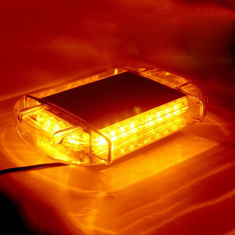 24 LEDs Car LED Strobe Light Magnetic Mounted Mini Warning Light Bar for Aotomobiles Truck Caravan Yellow 12V 24V in Signal Lamp from Automobiles Motorcycles