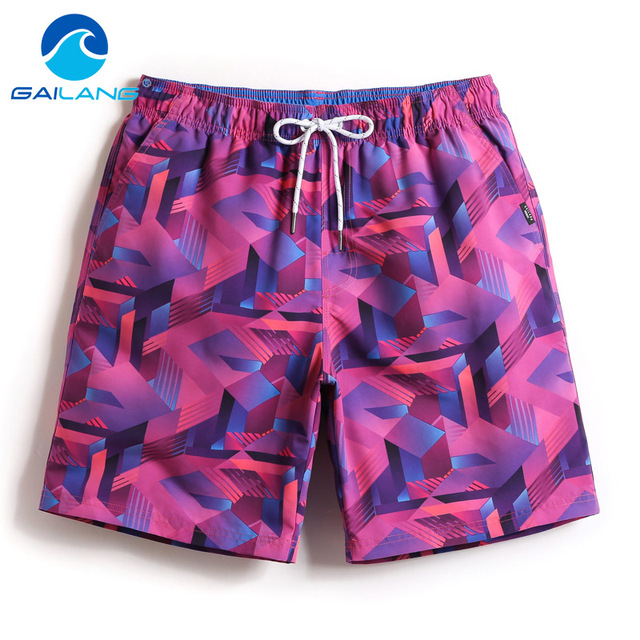 Gailang Brand Men Beach Shorts Boardshorts Boxer Trunks Casual Men's Swimwear Swimsuits Summer Bottoms Quick Drying Polyester