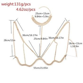 Rhinestone Multilayer Rows Crystal Bra Chain6