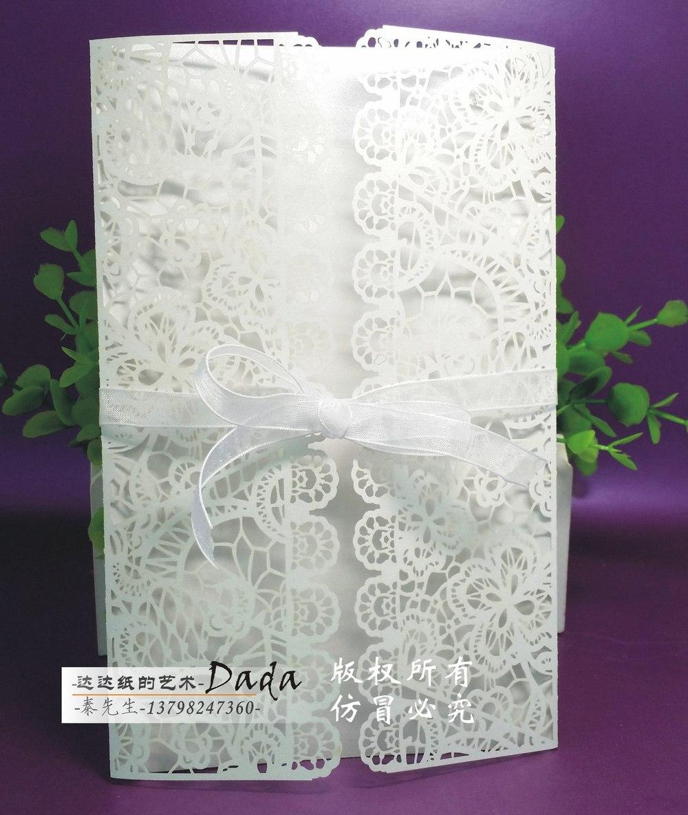 DD The new factory wedding invitation invitations hollow, creative ...