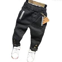 2019 wysokiej jakości moda dla dzieci dżinsy dla chłopców Slim Fit koreański dżinsy dziecięce dla dzieci chłopcy spodnie dla dzieci chłopiec dżinsy 2-6Y ubrania tanie tanio ZJHXDBD Na co dzień Elastyczny pas Unisex Pasuje prawda na wymiar weź swój normalny rozmiar Tz319 JEANS Luźne light