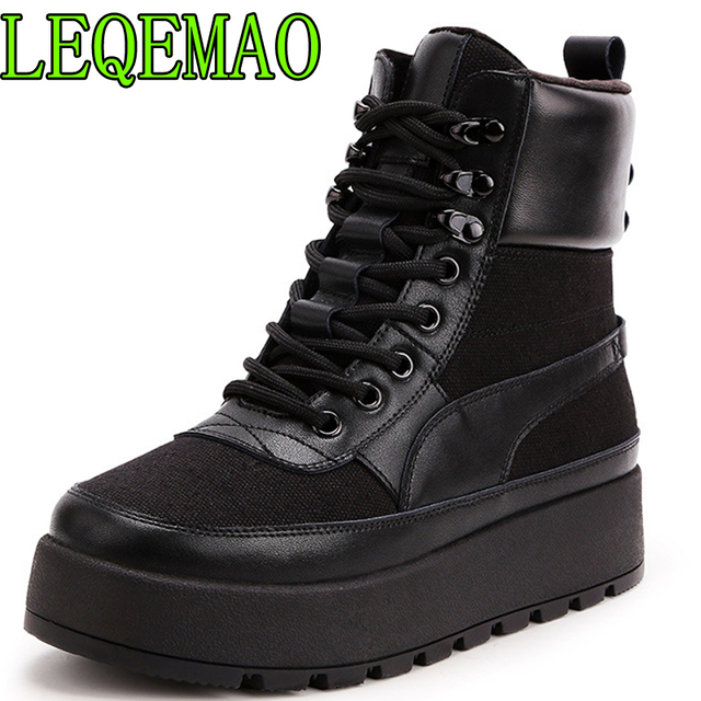 New Super fire fashion retro high-top Height increasing women's boots autumn winter thick-soled sell well casual women shoes