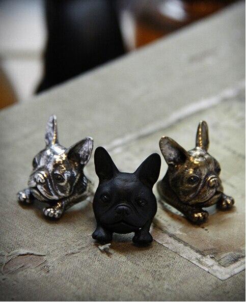 Cadeau de boucles d/'emballage d/'animal de bouledogue français