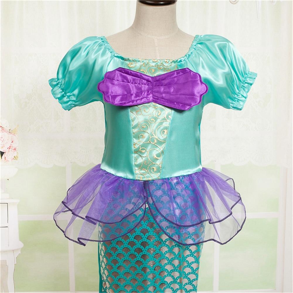 2018 Robes De Sirène Pour Filles Petite Sirène Fantaisie Princesse - Vêtements pour enfants - Photo 6