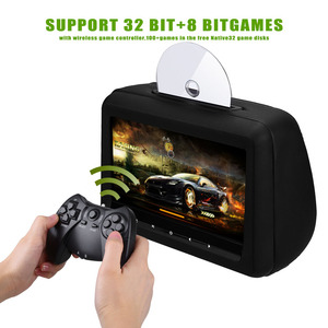 Image 2 - Cemicen 2 PCS 10.1 אינץ רכב משענת ראש צג DVD וידאו נגן עם FM/IR משדר/USB/SD (MP5) /אלחוטי משחק/HDMI יציאת/Gamepad