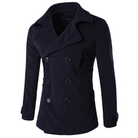 High Quality Mens Wool Pea Coats New Winter Style Men S Wool Winter Coat Streetwear Brand