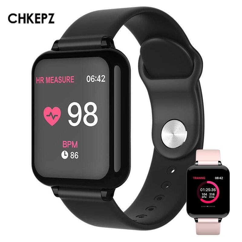 2019 Nova B57 Homens Relógio À Prova D' Água Heart Rate Monitor de Pressão Arterial Inteligente Esporte Mulheres Smartwatches Para ios Android Xiaomi Huawei