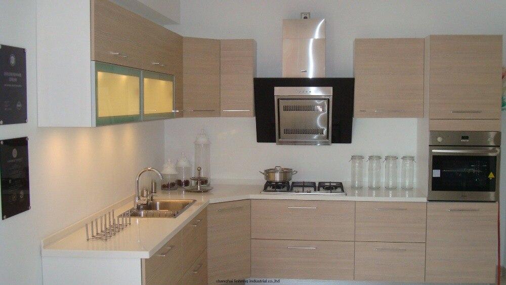 Melamine/mfc Kitchen Cabinets(LH-ME043)