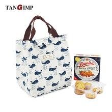 Tangimp многоразовые хлопка теплые обед мешок милый изолированные обед Сумочка Водонепроницаемый Коробки для обедов мягкие Bento охлаждения мешок (Polar bear)