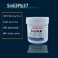 Low temperature No clean SMT Lead bearing LED SMT Solder Paste BGA Solder Flux Sn63Pb37 500g|Welding Fluxes| |  -