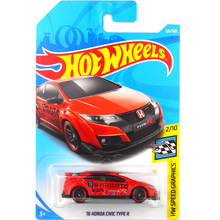 New Arrivals 2018 Hot Wheels 1:64 16th HONDA CIVIC TYPE R Car Models Collection Kids Toys Vehicle For Children 126(China)