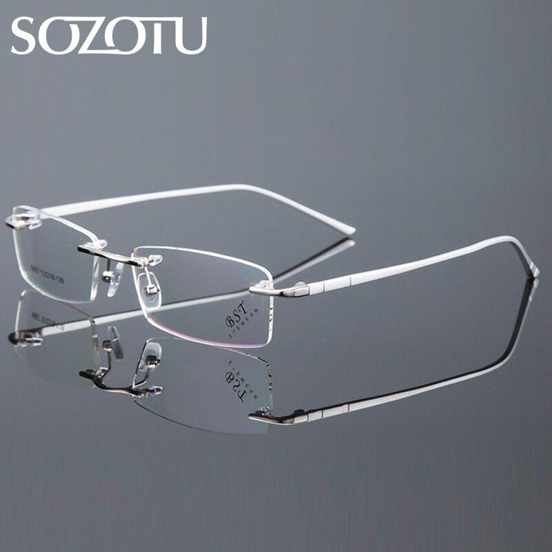 100% QualitäT Sozotu Brillen Rahmen Männer Koreanische Computer Optische Myopie Brille Spektakel Rahmen Für Männliche Randlose Klare Linse Brillen Yq591 Noch Nicht VulgäR