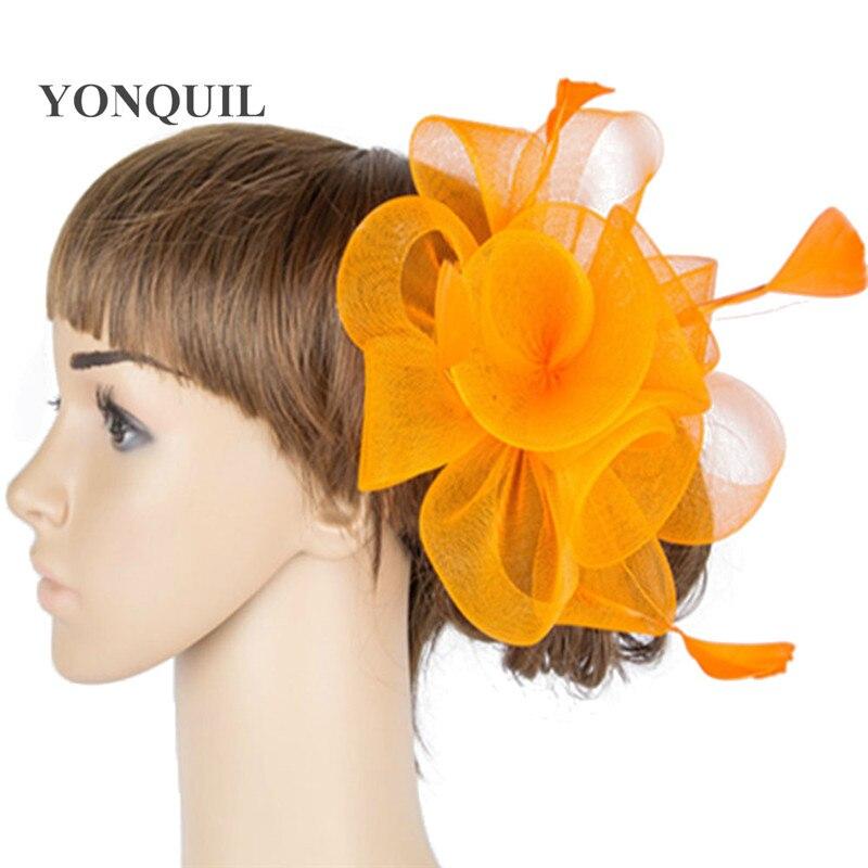 Múltiples colores crinolina fascinator headwear colorido malla partido  espectáculo accesorios kentucky sombreros sombrero cóctel MYQ037 db0ada75967