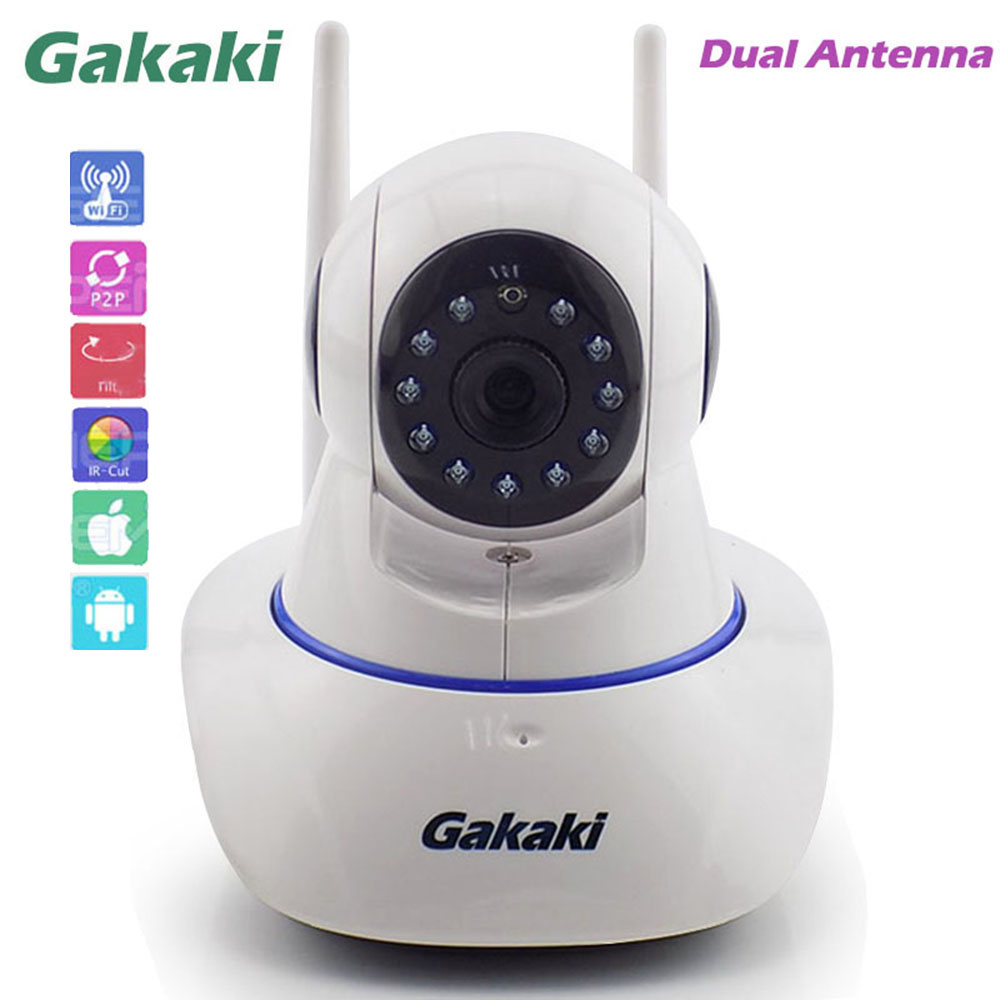 Gakaki Home Security Surveillance IP Camera Wireless Network Wifi Mini Camera Wi-fi 720P Night Vision CCTV Cameras Baby Monitor home security ip camera wireless smart wifi camera wi fi audio record surveillance hd mini cctv camera night vision network 2pcs