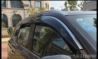 Defletor carro Para RENAULT DACIA DUSTER 2013 Viseira Janela Da Porta Viseira, PC + Aço Inoxidável, O Tempo da Chuva Sol guarda, Acessórios Do Carro