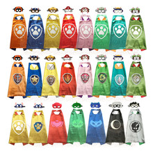 PAW - Cape and Mask Set Patrol Costume kids birthday party favor Superhero Style Cosplay Costumes and Halloween Gift(China)