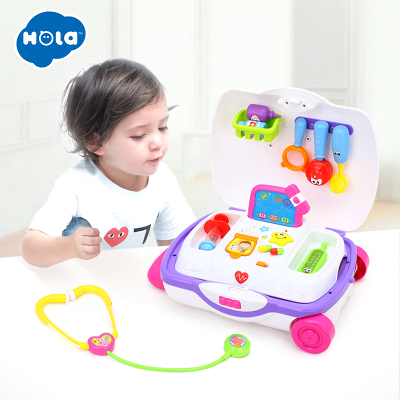 HOLA 3107 Baby Toys Kids Doctor Suitcase Pretend Play Toy with Music & Light Electronic Doctor Nurse Medical Play Toys Set-in Doctor Toys from Toys & Hobbies    1