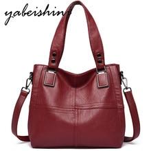 YABEISHINI Womens Shoulder Bags Sac A Main Female High quality leather Handbags Women Crossbody Shopping Bag Ms double zip bag